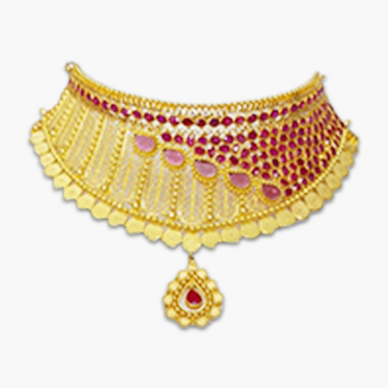 Red ruby Choker Necklace