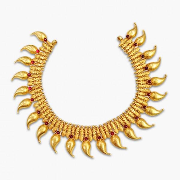 Antique leaf Necklace