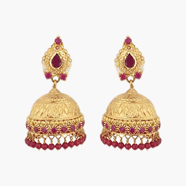 Grand Stone Gold Jhumka